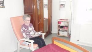 Chambre personnalisée par une résidente