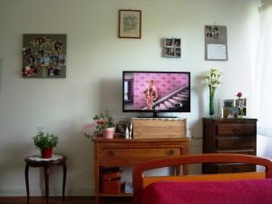 La chambre personnalisée d'une résidente