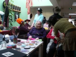 l'atelier maquillage avec Karine!